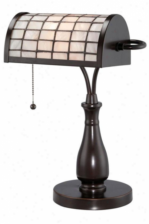 """emmly Desk Lamp - 17""""h X 8.75""""w, Black Bronze"""