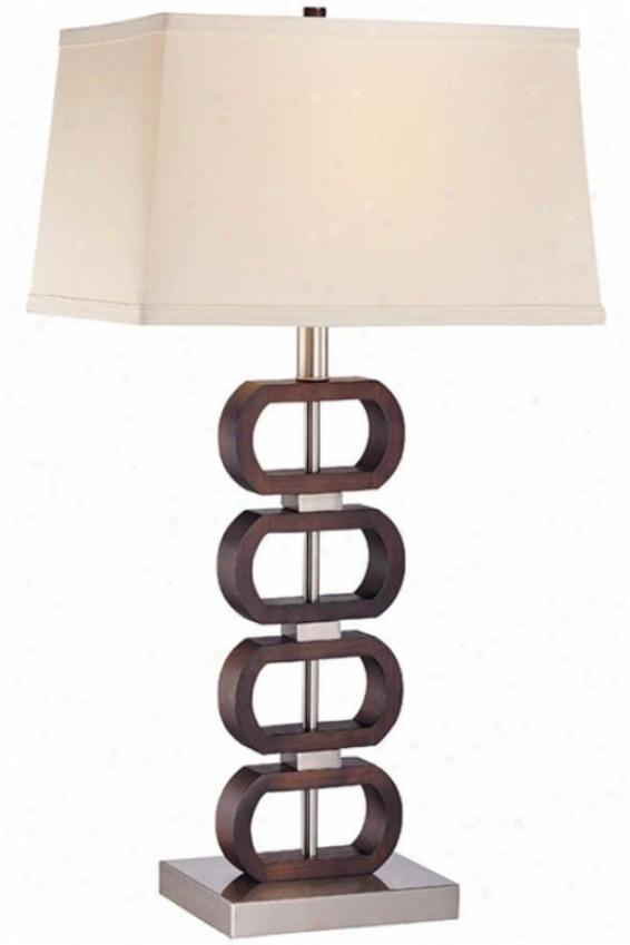 """emsley Ii Table Lamp - 29""""hx25.5""""w, Brown Wood"""