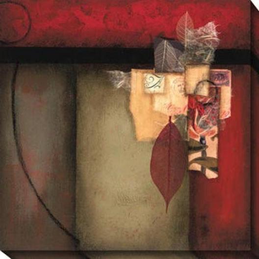 Encounter I Canvas Wall Art - I, Red