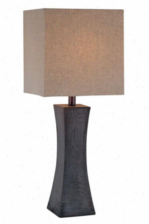 """enkel Index Lamp - 27""""h X 11""""w, Brown Wod"""