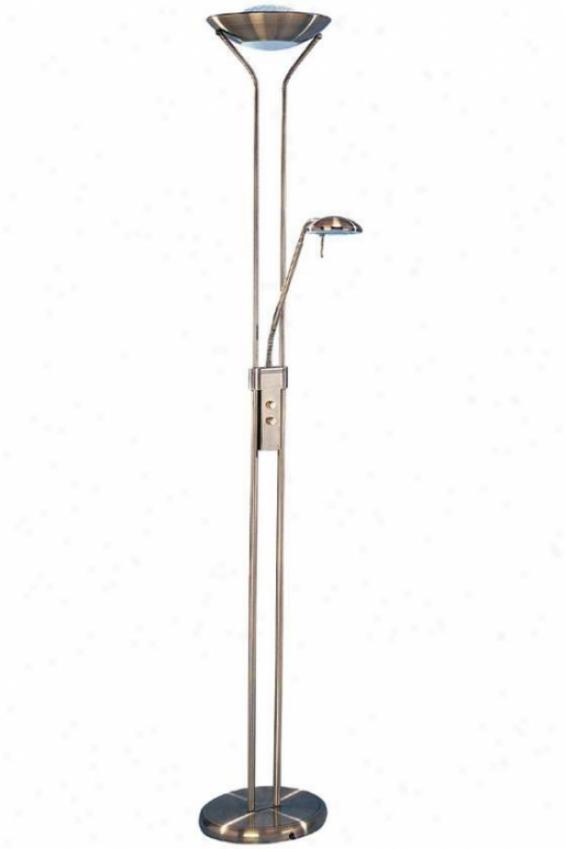 """ephron Floor Lamp - 71.5""""hx11""""d, Copper Brass"""