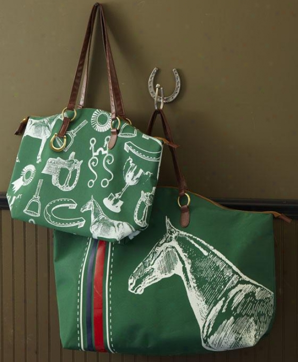Equestrian Bags - Set Of 2 - Set Of Two, Grden