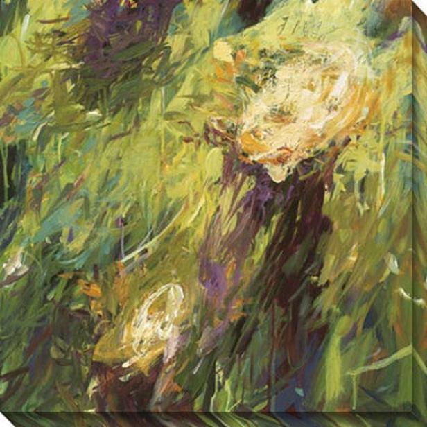 Eras Ii Canvas Wall Art - Ii, Green
