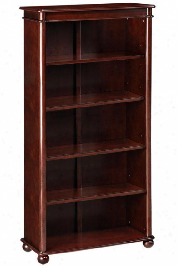 Essex Bookcase - Five-shelf, Brown Cherry Wood
