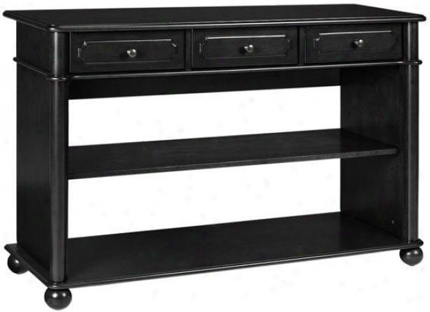Essex Sofa Console Food - 3-drawer, Black