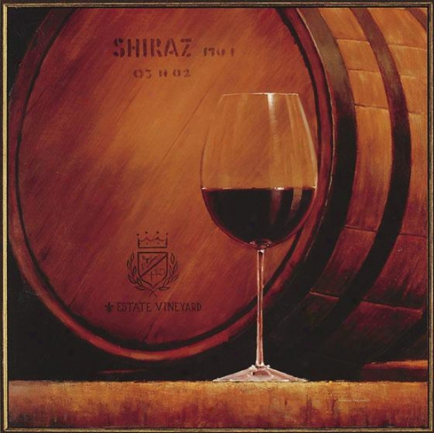 Estate Wine Wall Art - Shiraz, Red