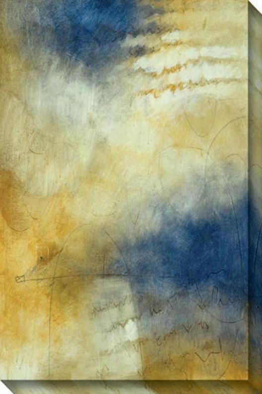 Eternal Iii Canvas Wall Art - Iii, Blue