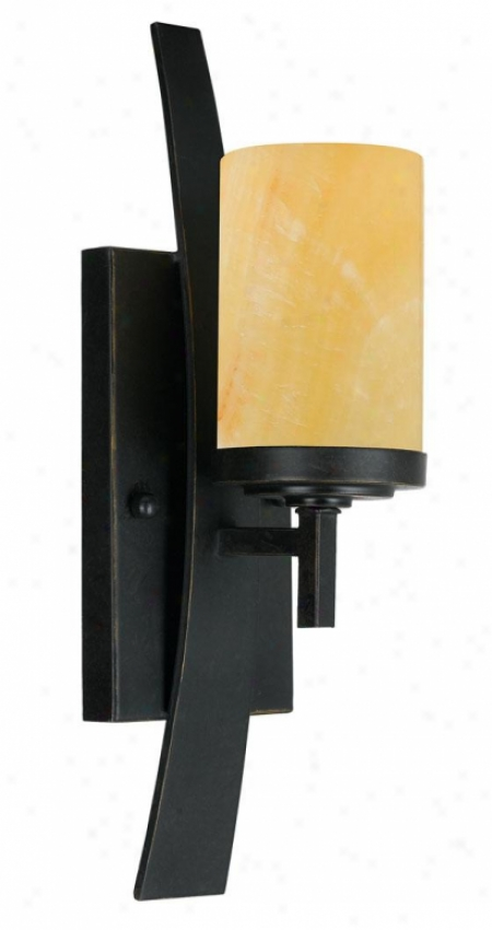 """evah Wall Sconce - 1-light/11""""h, Gold Bronze"""