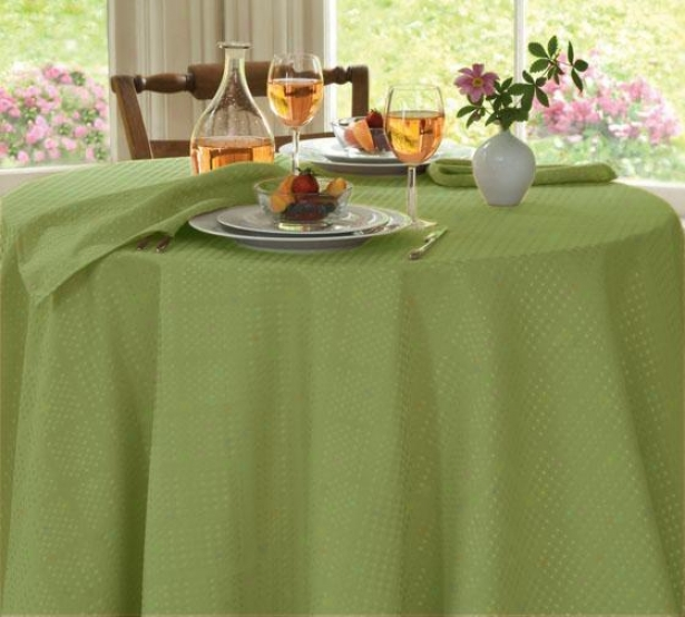 """evolution Tablecloth - 70""""round, Sage"""