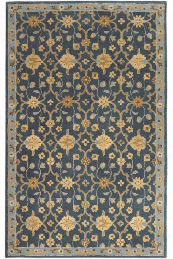 """exeter Rug - 5'9"""" Round, Blue"""