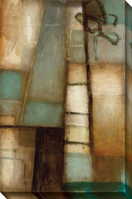External Circumstances Ii Canvas Wall Art - Ii, Brown
