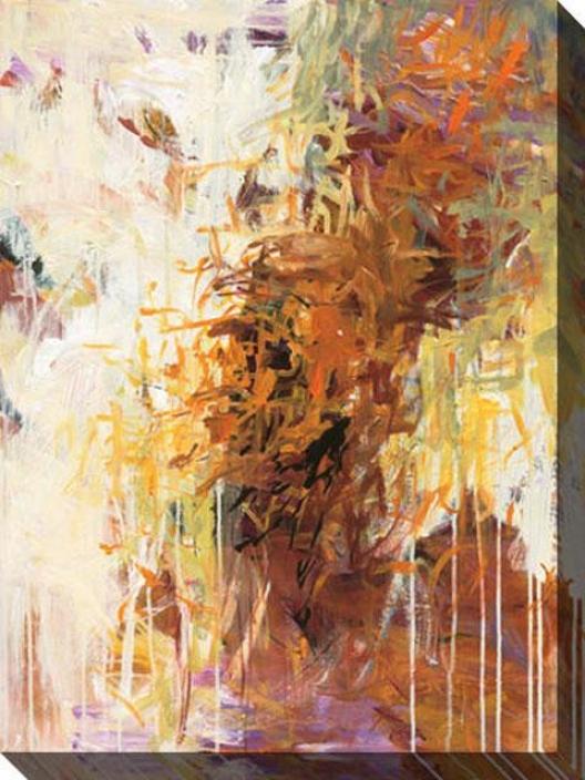 Exuberance Ii Canvas Wall Art - Ii, Tan