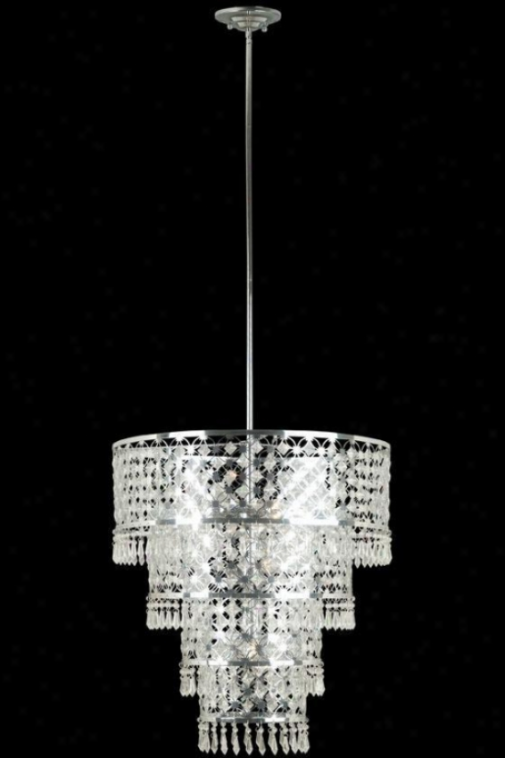 """facet Pendant - 70""""hx22""""d, Sivler Chrome"""