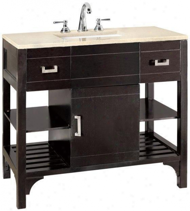 """fairmount Bathroom Vanity - 34.25""""hx36""""w, Coffee Brown"""