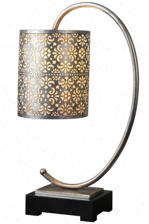 """faleria Synopsis Lamp - 24""""hx8.25""""diamt, Antiqued Silver"""