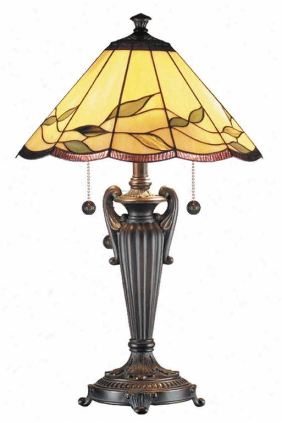 """falhouse Table Lamp - 26h X 16""""d, Antq Bell Bronz"""