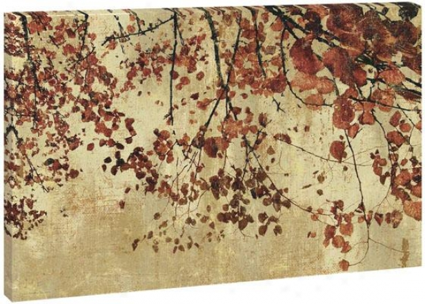 Fall Flowers Wall Art - 36hx54wx1.5d, Orange