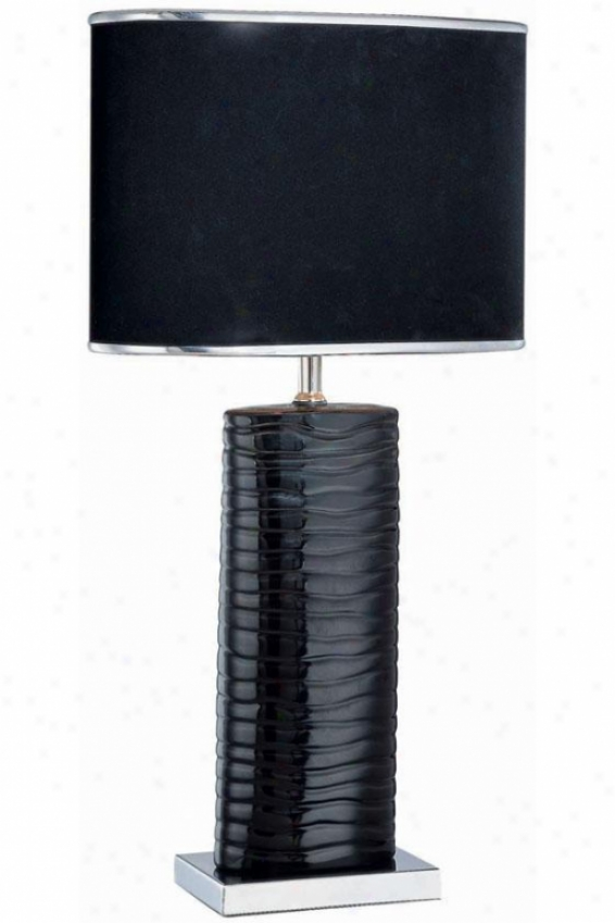 """fantino Table Lamp - 12.25""""x22.75"""", Black"""