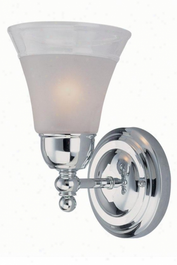 Faris Wall Sconce - One Light, Silver Chrome