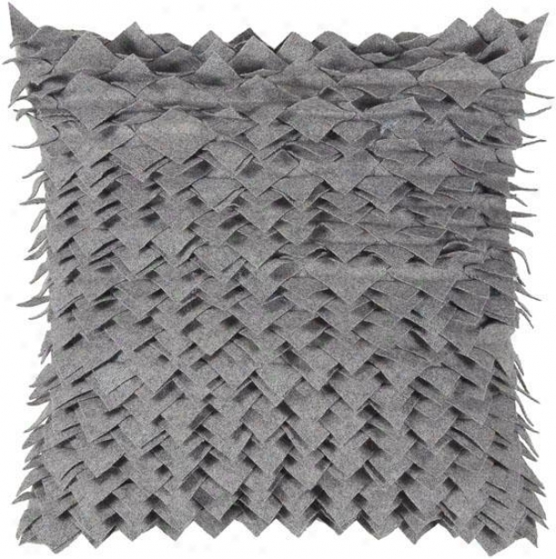 """farlow Pillow - 18""""x18"""", Gray"""