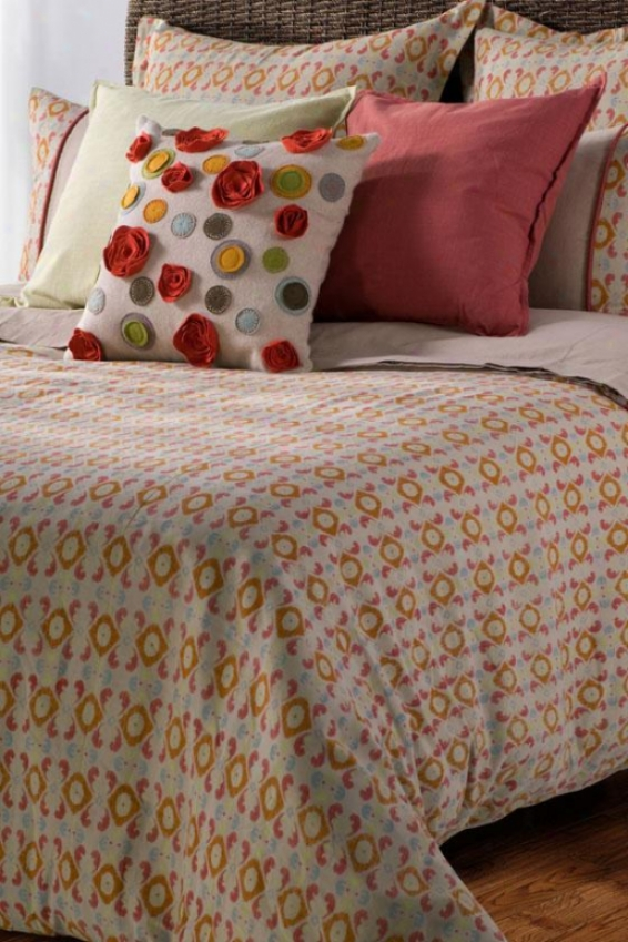 Farnsley Bedding Set - King, Beige/paprika