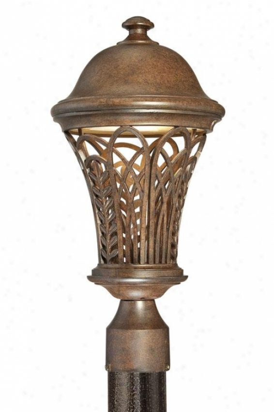 """""""farrah Outdoor Post Lantern - 17.5""""""""h, Museum Bronze"""""""