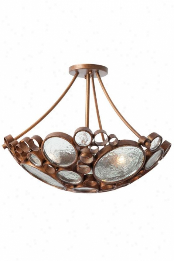 Fascinator Ceiling Light - 3 Light, Hammered Ore