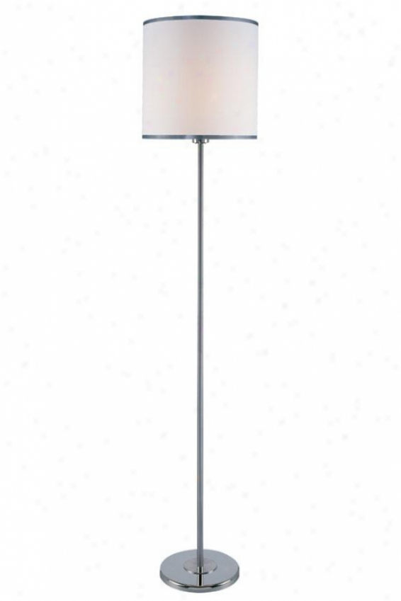 """fayola Floor Lamp - 60.75h X 11.75"""", White"""