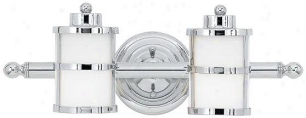 Felicity 2-light Bathroom Vanity Light - 2-light, Steel Gray Chrome