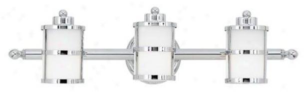 Felicuty 3-light Bathroom Idle show Light - 3-light, Steel Gray Chrome