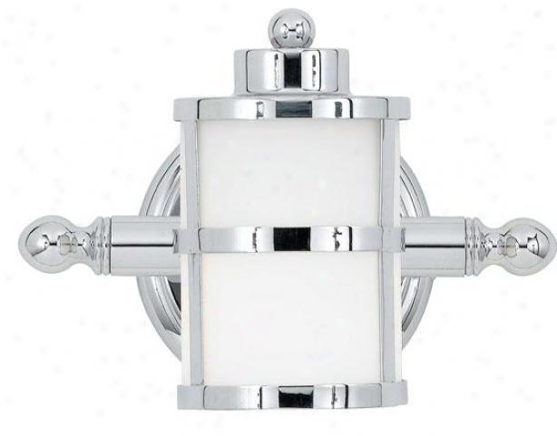 Felicity Sconce - 1-light, Steel Gray Chorme