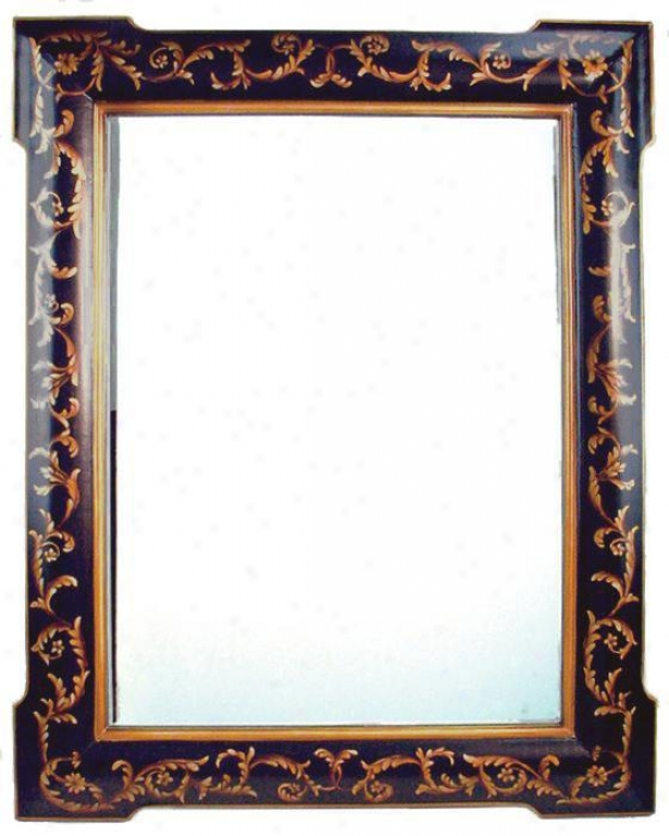 """festoon Mirror - 43""""hx35""""w, Black"""