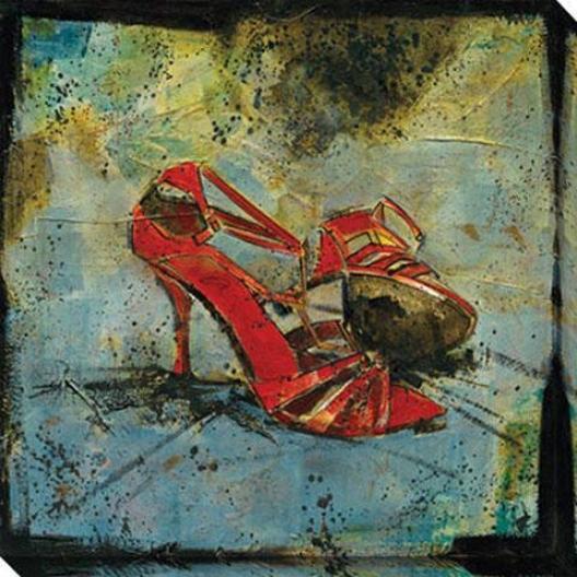 Fetish Series Ii Canvas Wall Art - Ii, Red