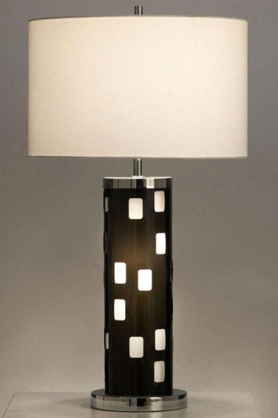 """finestra Table Lamp - 28""""hx16""""round, Black"""