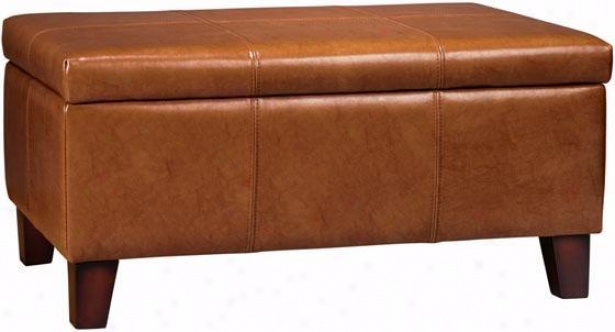 """firenze 36""""w Leather Lift-top Storage Bench - 36""""w, Brown"""