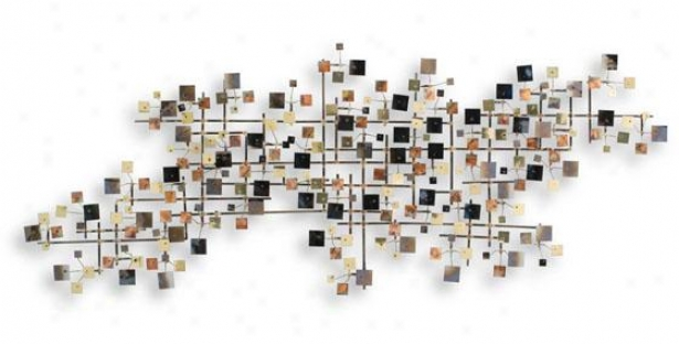 Firmament Wall Sculpture - 51hx20wx4d, Multi