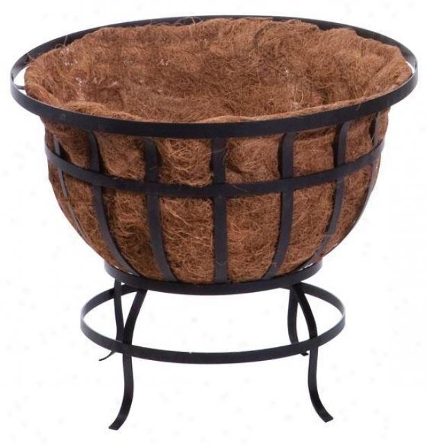 """flat Iron Standing Basket - 18""""hx22""""wx22""""d, Black"""