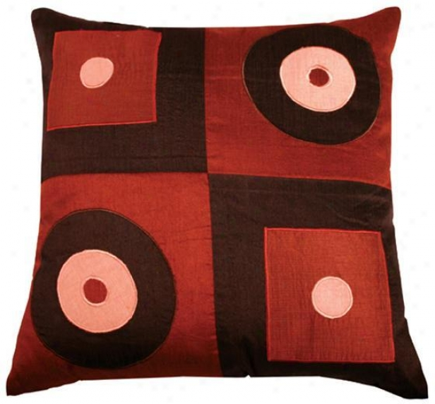 Fleming Pillow - 18x18, Chcolate/paprka