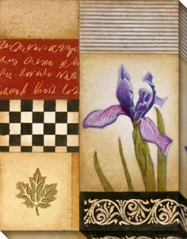Fleur De Lis I Canvas Wall Art - I, Ivory
