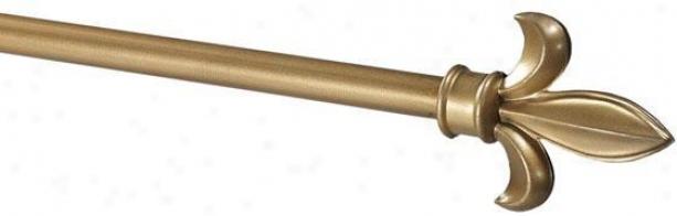 """""""fleur-de-lis Payton Metal Drapery Rod - 44""""""""-108""""""""l, Gold"""""""