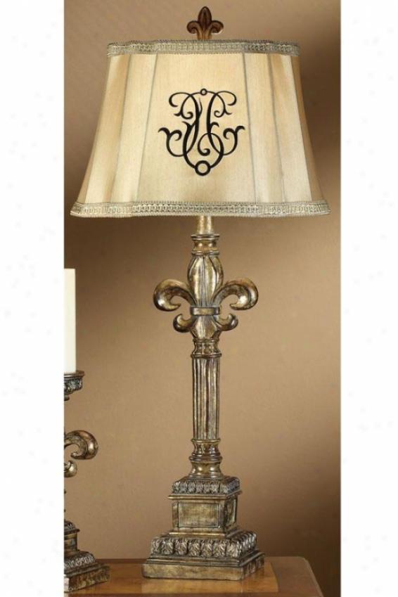 """""""fleur-de-lis Table Lamp - 33.25""""""""h, Silver Opullence"""""""