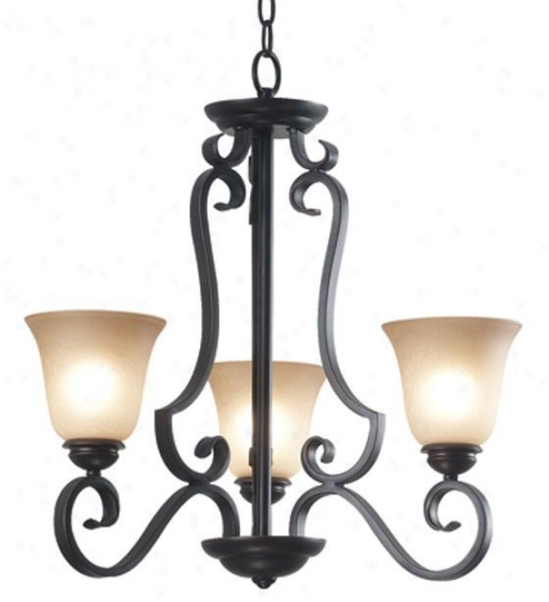 Flex 3-light Chandelier - Three-light, Copper Bronze