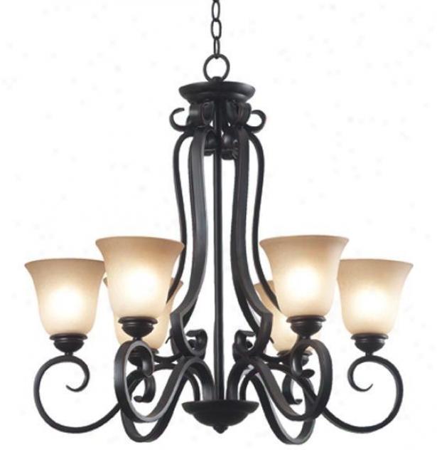 Flex 6-light Chandelier - Six-light, Copper Bronze