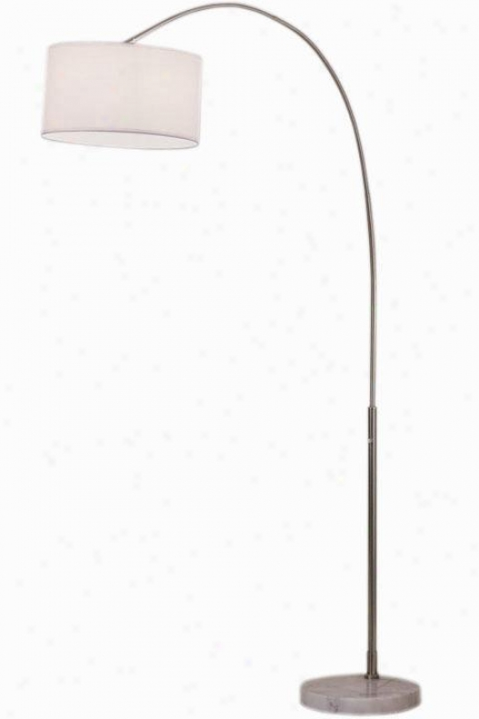 Float Arch Floor Lamp - Glass, Silver Nickel