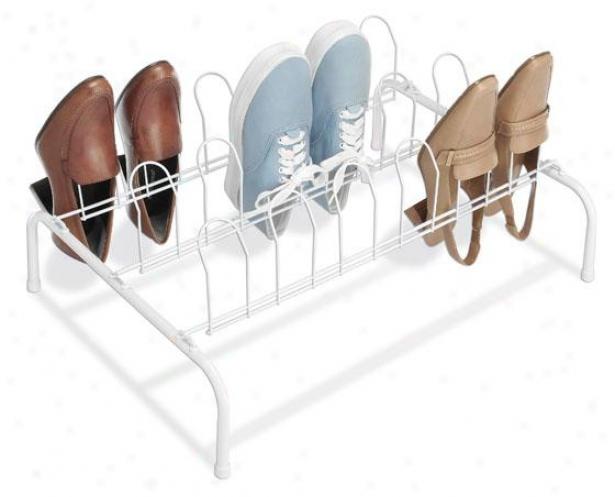 """""""floor Shoe Rack - 9""""""""hx22""""""""wx16""""""""d, White"""""""