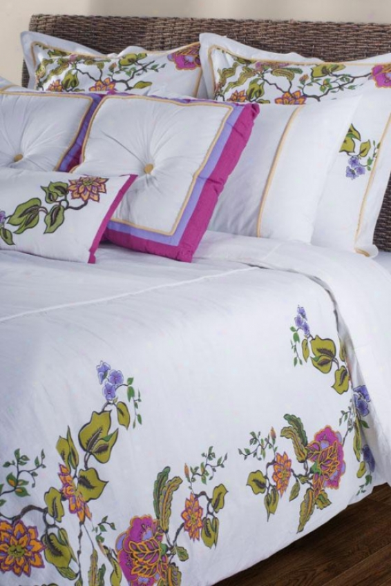 Flora Bedding Set - Full, White/foral