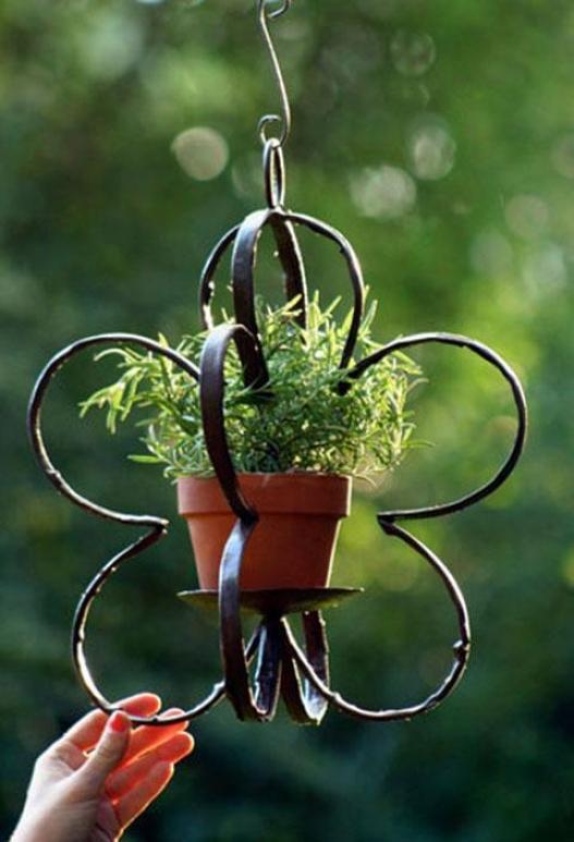"""""""flora Candle Pot Holder - 21""""""""hx13.75""""""""d, Bronze"""""""