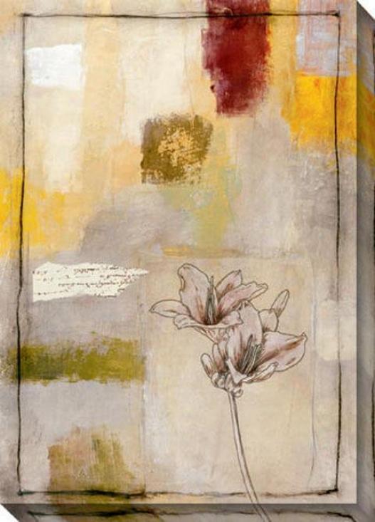 Flora Iii Canvas Wall Art - Iii, Ivory