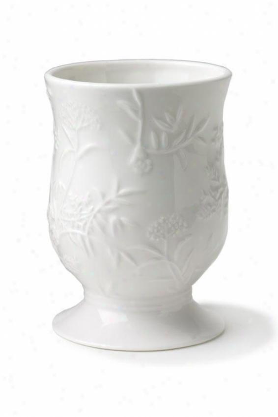 Floral Butterfly Bath Tumbler - Tumbler, White Porcelain