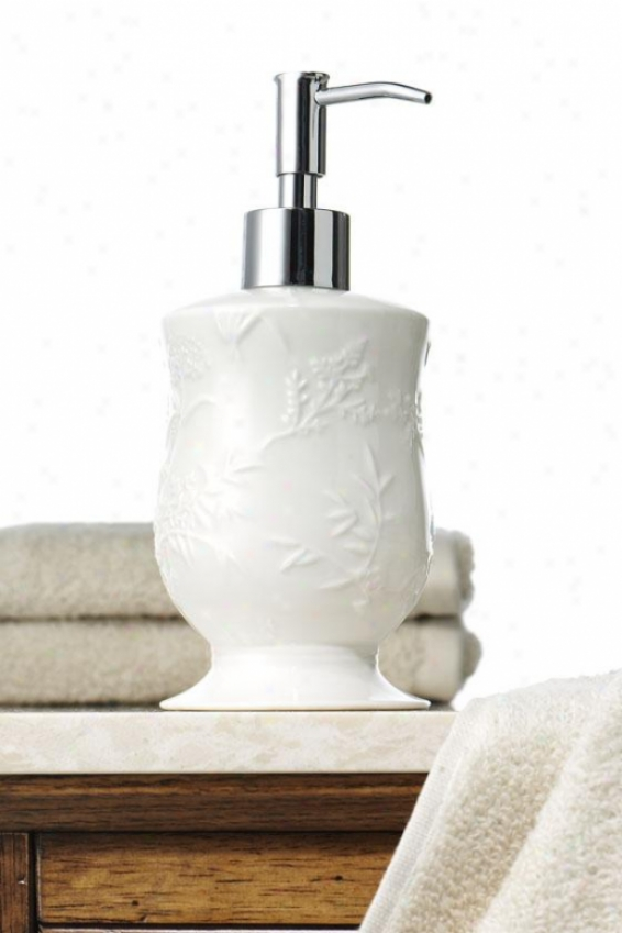 Floral Butterfly Lotion Dispenser - Lotion Dispenrs, White Porcelain